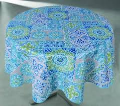 round tablecloths vinyl tablecloth plastic outdoor indoor blue suzani 60 round