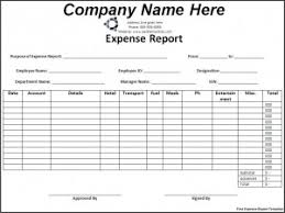 Blank Expense Report Form Free Expense Report Template Blank Word Doc