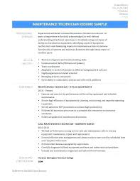 Resume Objective For Maintenance Technician Best of Sample Resume For Maintenance Resume For Building Maintenance