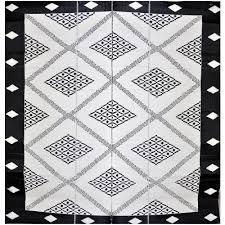 troy outdoor rug in black cream