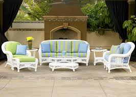 Exterior Dark Cape May Wicker With Beige Cushions For Cozy Patio Cape May Outdoor Furniture