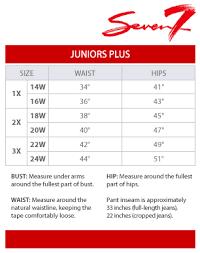 Seven7 Juniors Plus Size Chart Via Macys In 2019 Junior