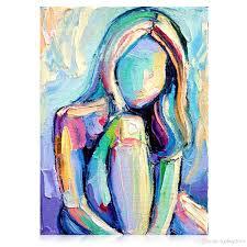 modern contemporary art paintings and kgtech contemporary artist paintings textured girl pop art