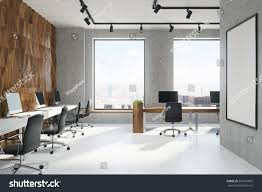wooden office. Wooden Office. Diamond Pattern And Concrete Wall Office Room With Rows Of Computer Tables N