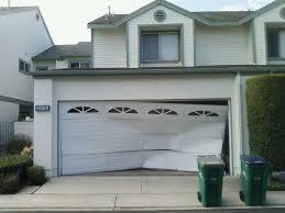 garage door artPhotos of Accidents Backed Into Garage Door  Networx