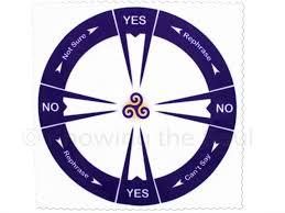 Yes No Cloth Pendulum Chart Ask Your Pendulum