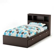 twin bed with storage and bookcase headboard.  Storage Amazoncom  South Shore Cakao Twin Storage Bed And Bookcase Headboard  Chocolate For With And Headboard