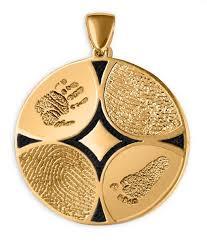 family ties multi fingerprint pendant with no stone