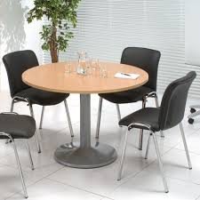 trexus meeting room table round trumpet base dia1200xh725mm beech rh huntoffice ie small round meeting room tables large round conference room tables