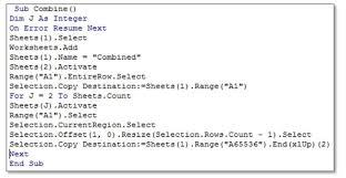 Merge Excel Files Into Single Excel Spreadsheet Using Excel Vba Macros