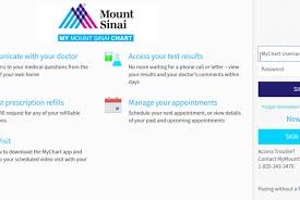 My Chart Access Mychart Mountsinai Org Mt Sinai Account Login Process