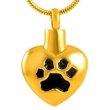 heart pet paw urn necklace for ashes snless steel cremation jewelry for pet ash keepsake