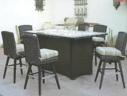 patio dining table with fire pit patio renaissance catalina outdoor wicker furniture inside bar height patio
