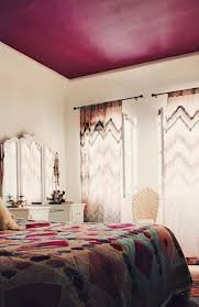 Maroon Bedroom Bedroom With Moroccan Bedspread And Maroon Ceiling Color Ceiling