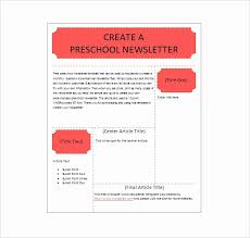 Preschool Newsletter Template Microsoft Word Awesome Free Printable