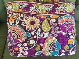 Vera Bradley Discontinued Patterns Inspiration Vera Bradley Grand Tote Plum Crazy Very Popular Retired Pattern EBay