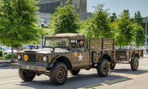 refurbished 1967 kaiser jeep m715 and m101a1 trailer bring a trailer 1967 kaiser m715 and m101 trailer