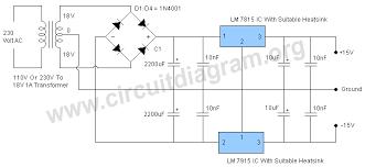 circuit diagram 15v dc power supply the wiring diagram 15v dual power supply regulated circuit diagram wiring diagram
