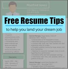 Free Resume Tips Format Examples To Land Your Dream Job