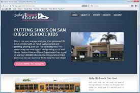 Website Design for Gaylord-Hansen Shoes, Home