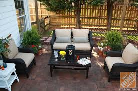 a new patio furniture set creates a new outdoor space in a patio makeover amazing patio furniture home