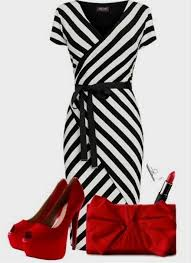 Black And White Dress Red Accessories] 12 Best Red Dress Images On ..