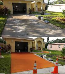 we provide driveway painting and pressure cleaning we paint over your existing concrete with concrete stain or primer to protect your concrete walk way