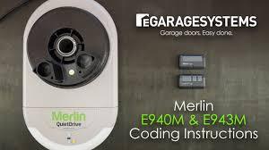 coding the merlin e940m e943m into the merlin quite drive mr650evo roller garage door opener