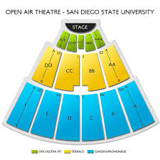 San Diego State Open Air Theatre Seating Chart Cal Coast Credit Union Open Air Theatre At Sdsu 2019 Seating