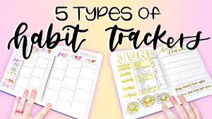 5 Types Of Habit Trackers Bullet Journal Ideas
