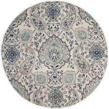 safavieh madison collection mad600c cream and light grey round area rug 6 7 in diameter