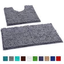 luxurux bathroom rugs luxury chenille 2 piece bath mat set soft plush anti slip shower rug toilet mat 1 microfiber gy carpet super absorbent