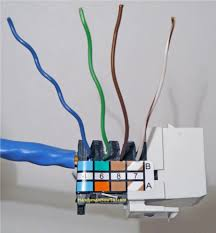 how to install an ethernet jack for a home network cat5e ethernet jack wiring