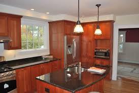 image of kitchen pendant lighting over island