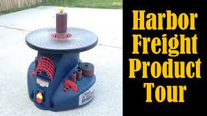 bench sander harbor freight. harbor freight oscillating spindle sander product tour (cmrw#33) - youtube bench v