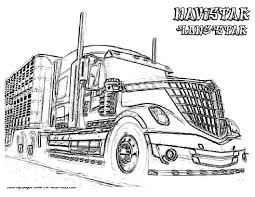 big truck coloring pages wagashiya within peterbilt coloring pages semi