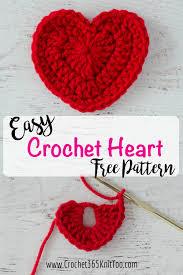 Heart Crochet Pattern Mesmerizing Crochet Heart Pattern Crochet 48 Knit Too