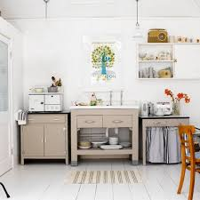 free standing kitchen cabinets. Freestanding Kitchen Cabinets For Small Kitchens Will Stop The Room Feeling Too Rigid, Like This With A Neutral Palette. Free Standing D