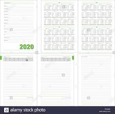 Daily Planner Template 2020 Datebook 2020 Year Diary 2020 Daily Planner With Calendar