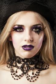 this style requires you to wear false eye lashes some strong purple lipstick and a good quality emo foundation create a small spot near your ear using an