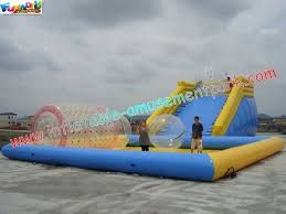inflatable above ground pool slide. Custom 0.9MM PVC Tarpaulin Inflatable Above Ground Pool Slides For Water Toys Slide A