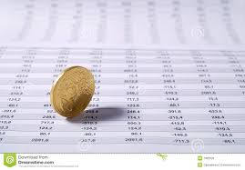 Euro Cent On Stock Chart Stock Photo Image Of Number 7392528