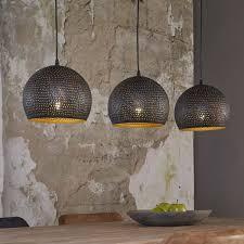 Hanglamp Punch Bol 3 Lichtpunten Zwart Bruin Id Wonen