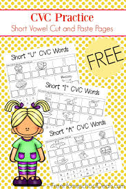 Practice pattern recognition along with fine motor skills with these free worksheets. Free Cvc Cut Paste Worksheets Pinnable Preschool Printables And Color Fruits Ture Magnets For Object Lesson Interpreting Graphs Activity Design A Calendar Printable Ermitavinyetsitges