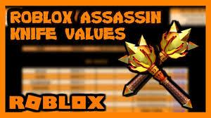 Roblox Assassin Value List May 2019