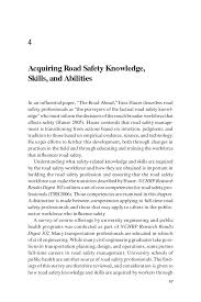What Are Skills And Abilities 4 Acquiring Road Safety Knowledge Skills And Abilities Building