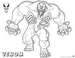 Venom Spiderman Kleurplaten