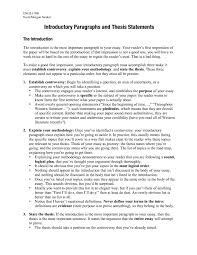 Example Of Essay Introduction With Thesis Statement How To