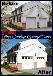 DIY Vinyl Faux Carriage Garage Doors Free Studio File Giveaway