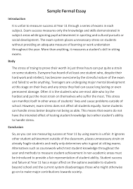 formal essay example example of a formal outline for an essay  formal essay example
